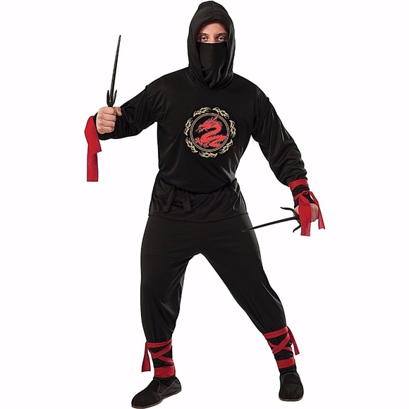 mens ninja halloween costume xl 40 42 rubies
